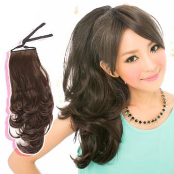 【7956M】優雅公主微捲造型綁式馬尾髮片