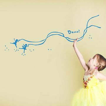 【Smart Design】創意無痕壁貼◆來跳舞吧