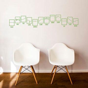 【Smart Design】創意無痕壁貼◆線條隨想