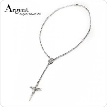 ARGENT銀飾 十字架系列 耶和華十字 染黑款 Y字鍊造型 純銀項鍊