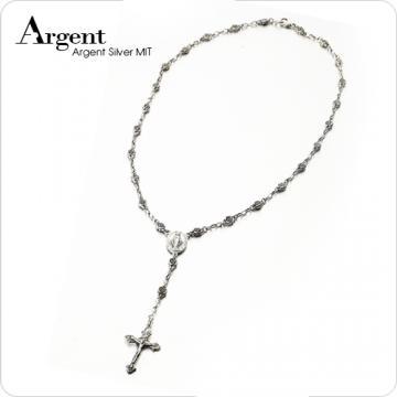 【ARGENT銀飾】十字架系列「古典玫瑰十字」純銀項鍊