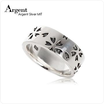 【ARGENT銀飾】造型系列「繽紛櫻花戒」純銀戒指(染黑款)