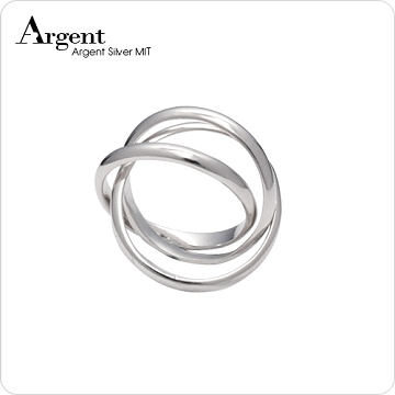 【ARGENT銀飾】造型系列「三環戒」純銀戒指