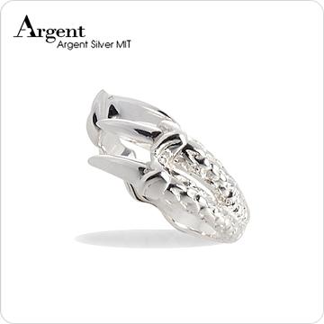 【ARGENT銀飾】動物系列「龍爪(小) 」純銀戒指(無染黑款)