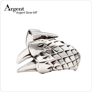 【ARGENT銀飾】動物系列「龍爪(大) 」純銀戒指(染黑款)