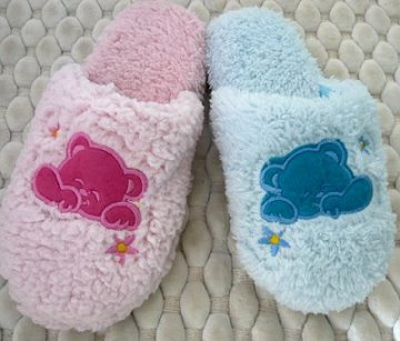 (e鞋院)【趴睡熊】兒童舒適室內拖鞋