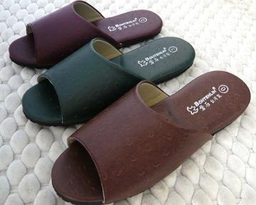 (e鞋院)[時尚駝鳥紋]室內拖鞋