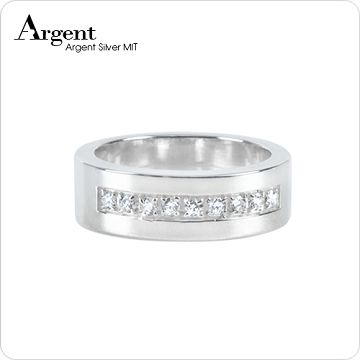 【ARGENT銀飾】美鑽系列「星河(寬)」純銀戒指