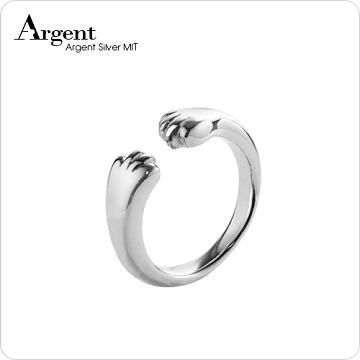 【ARGENT銀飾】動物系列「貓爪戒」純銀戒指(貓蹼染黑款)