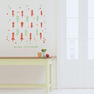 【Smart Design】創意無痕壁貼◆小點陣聖誕樹 四色可選