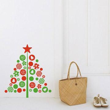 【Smart Design】創意無痕壁貼◆拼貼聖誕樹 四色可選