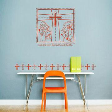 【Smart Design】創意無痕壁貼◆箴言/十字架 8色可選