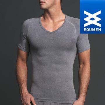 澳洲進口 EQUMEN 男性時尚短袖塑身衣[灰][免運費]