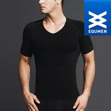 澳洲進口 EQUMEN 男性時尚短袖塑身衣[黑][免運費]