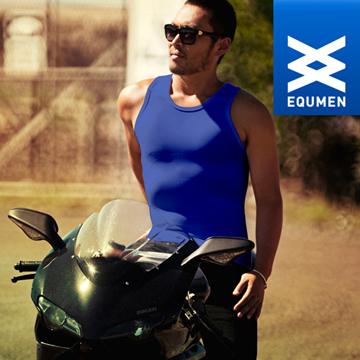 澳洲進口 EQUMEN 男性時尚汗衫塑身衣[藍][免運費]