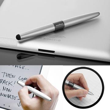 cubiii - Oval Pen 雙用觸控筆-科技銀