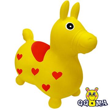 QQMa 快樂寶貝好開心充氣跳跳馬(黃)