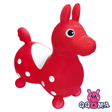 QQMa ST快樂寶貝充氣跳跳馬(紅)