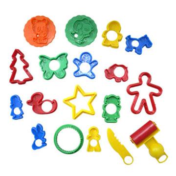 【培培樂】彩色創意黏土模具補充包-可愛動物組