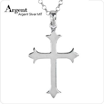 【ARGENT銀飾】十字架系列「聖十字(男墜)(大) 」純銀項鍊