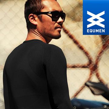 澳洲進口 EQUMEN 男性時尚長袖塑身衣.黑.免運優惠