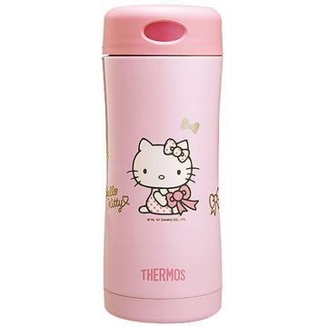 <font color=red>↘限時降$100</font>【THERMOS膳魔師】Hello Kitty雙層真空保溫杯瓶400ml-粉色PK