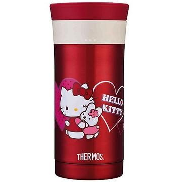 <font color=red>↘限時降$100</font>【THERMOS膳魔師】Hello Kitty愛心篇雙層真空保溫杯瓶350ml-紅色RK
