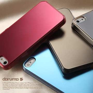 <b><font color=red><買一送一></font>S-Pearl iPhone 5 珍珠霧面光感保護殼