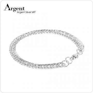 【ARGENT銀飾】手工鍊系列「扁蛇鍊」純銀手鍊
