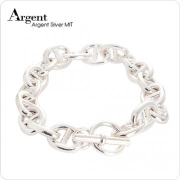 【ARGENT銀飾】型男系列「軍艦」純銀手鍊