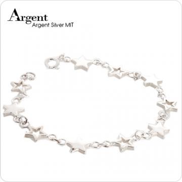 【ARGENT銀飾】星星系列「滿天星」純銀手鍊