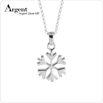 【ARGENT銀飾】聖誕系列「幸運雪」純銀項鍊