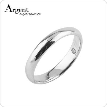 【ARGENT銀飾】美鑽系列「藏鑽(女戒)」純銀戒指(版寬3mm)