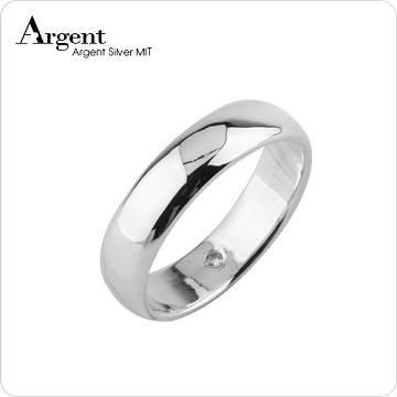 【ARGENT銀飾】美鑽系列「藏鑽-新寬版」純銀戒指(版寬6mm)