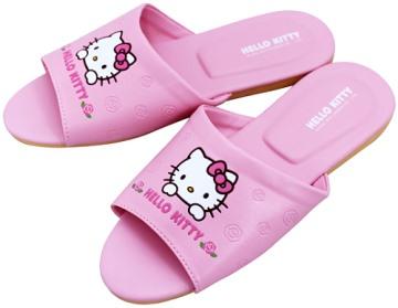 (e鞋院)HELLO KITTY(玫瑰) 室內皮拖鞋(親子拖)   ~粉~