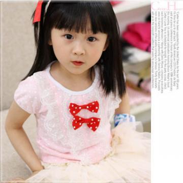 <font color=red>【換季↘69折】</font>魔法Baby ~甜美系公主裝雙蝴蝶結上衣~童裝~女童裝~時尚設計童裝~k20182