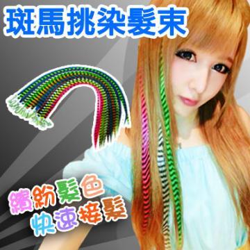 耐熱材質可上電棒/印地安彩色髮束【MF007】斑馬挑染髮束