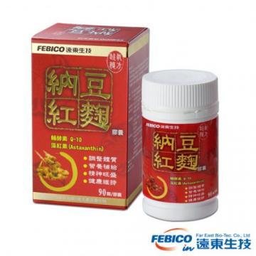 《遠東生技》超級複方納豆紅麴膠囊1瓶(500mg/90顆)