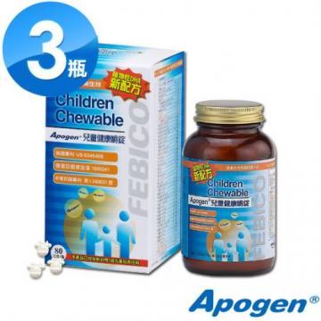 遠東生技 Apogen兒童健康嚼錠3瓶組 藻精蛋白/藻藍蛋白