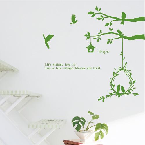 【Smart Design】創意無痕壁貼◆樹上鳥兒