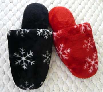 (e鞋院) [雪花紛飛]絨毛舒適室內拖鞋 (任選2雙)