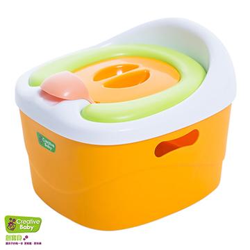 Creative Baby - 多功能三合一學習軟墊馬桶(Horseshoe)(橘色)