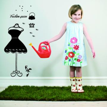 【Smart Design】創意無痕壁貼◆時尚女王(小)