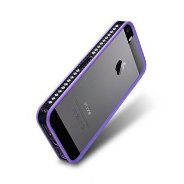 iPhone 5/5s- 奢華版保護套-水晶紫