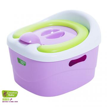 Creative Baby - 多功能三合一學習軟墊馬桶(Horseshoe)(紫色)