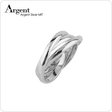 【ARGENT安爵銀飾精品】造型系列「三環戒(女版)(無刻字)」純銀戒指