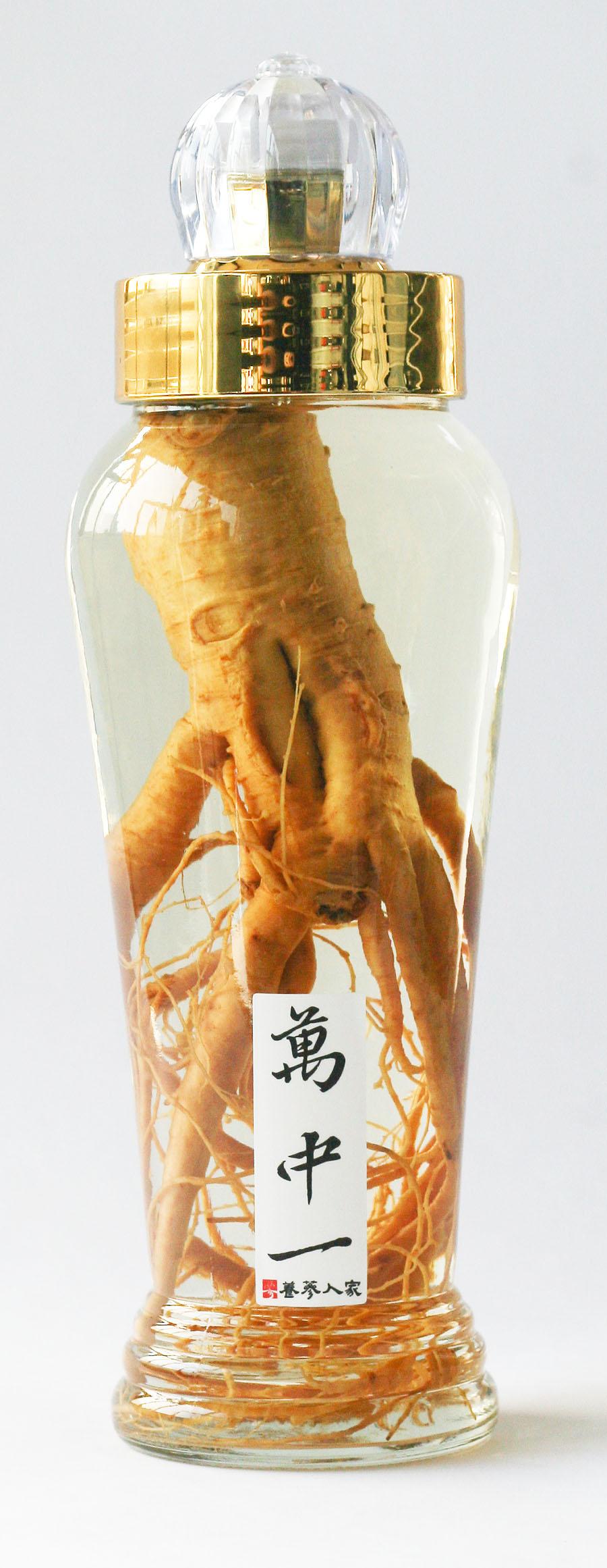 韓國原裝進口 DIY泡酒專用空瓶/玻璃瓶身/1200ml (不含酒,不含蔘!)