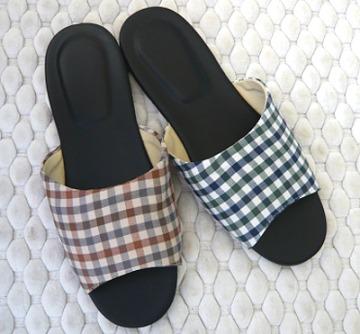 (e鞋院)[居家格紋]舒適室內拖鞋