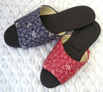 (e鞋院)[日式古典花]舒適室內拖鞋