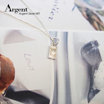 【ARGENT銀飾】迷你系列「小撲克-方塊♦(diamond)」純銀項鍊